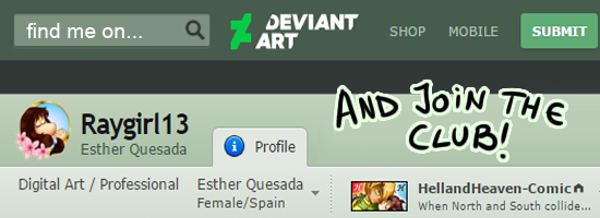 Find me on Deviantart!